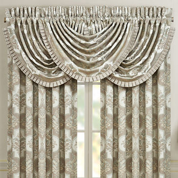Queen Street Clermont Rod-Pocket Waterfall Valance