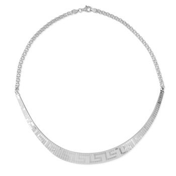 Made in Italy Womens Sterling Silver Collar Necklace
