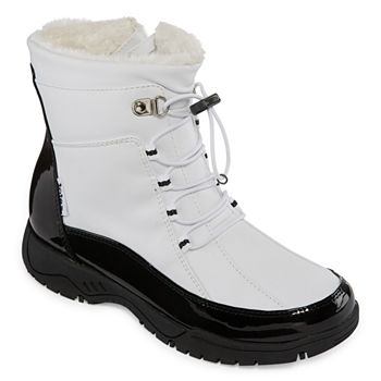 f54324a3ce53 Arizona Womens Shawn Flat Heel Pull-on Winter Boots · (40). Add To Cart.  Black White.  26.24