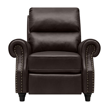 Surprising Anna Push Back Roll Arm Recliner In Renu Leather Alphanode Cool Chair Designs And Ideas Alphanodeonline