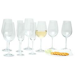 Red Vanilla Viola 18-pc. Assorted Wine Glass Stemware Set