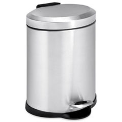 Honey-Can-Do® 5-Liter Oval Stainless Steel Step Trash Can