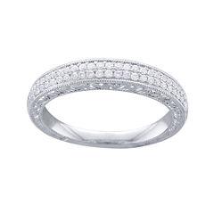 Cherished Hearts™ 1/4 CT. T.W. Diamond 14K White Gold Wedding Band