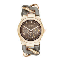 Geneva Womens Two-Tone Chain-Link Bracelet Watch