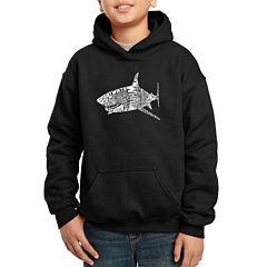 Los Angeles Pop Art Popular Species Of Shark Hoodie-Big Kid Boys