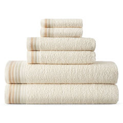 Home Expressions™ Ombré Stripe 6-pc. Bath Towel Set