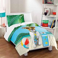 Dream Factory Ruff Getaway Comforter And Sham Set