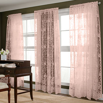 Rod Pocket Pink Curtains & Drapes for Window - JCPenney