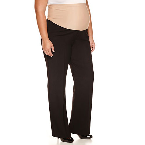duo™ Maternity Overbelly Wide-Leg Career Pants - Plus
