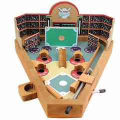 Homewear Classic Wood Pinball-Style Baseball Game