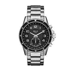 Relic Duncan Mens Silver Tone Smart Watch-Zrt1007