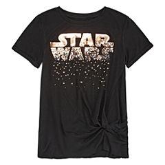 Short Sleeve Crew Neck Star Wars Graphic T-Shirt