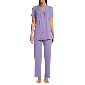 Lissome Womens Pant Pajama Set 2-pc. Short Sleeve