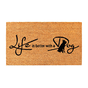 Calloway Mills Life Is Better With A Dog Rectangular Outdoor Doormat