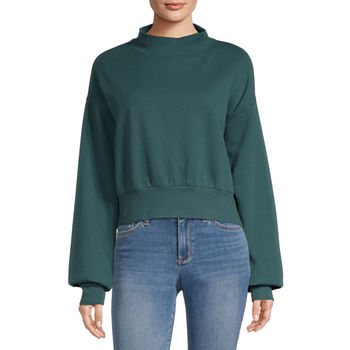 Flirtitude Juniors Mock Neck Sweatshirt