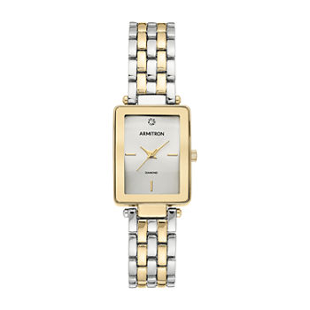 Armitron Dress Womens Diamond Accent Two Tone Bracelet Watch-75/5769svtt