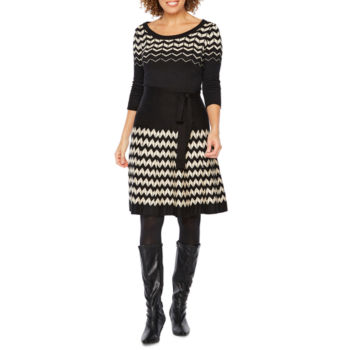 Sweater Dresses Turtleneck Black Red White Jcpenney