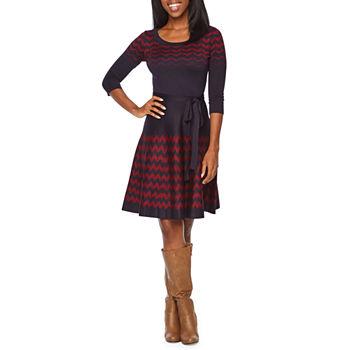 bb73fd969a Jessica Howard 3 4 Sleeve Sweater Dress. Add To Cart. Few Left