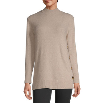 Liz Claiborne Womens Tunic Sweater - Tall