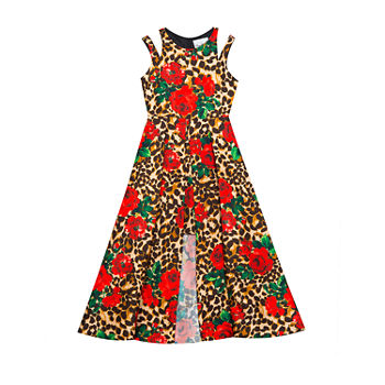 Rare Editions Big Girls Sleeveless Animal Maxi Dress