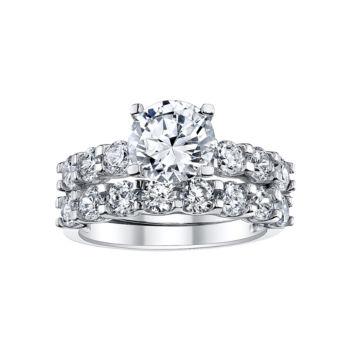 Fine Jewelry DiamonArt 2.1 CT. T.W. Cubic Zirconia Bridal Set idn12