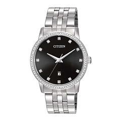 Citizen® Mens Stainless Steel Crystal-Accent Bracelet Watch BI5030-51E