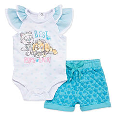 2-pc. Paw Patrol Bodysuit Set-Newborn Girls