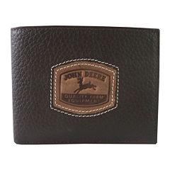 John Deere® Leather Passcase Wallet
