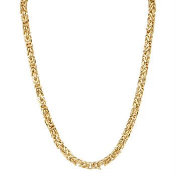 14K Gold Over Silver 17 Inch Semisolid Chain Necklace