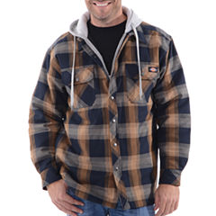 Dickies Hooded Quilted Twill Midweight Shirt Jacket - Big