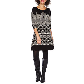 832a498414b Geo Linear Sweater Dresses Dresses for Women - JCPenney