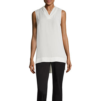 2d02a82295a640 Tank Tops White Tops for Women - JCPenney