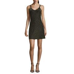 Fire Sleeveless A-Line Dress
