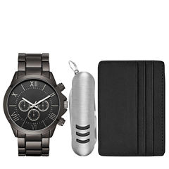 Mens Black 3-pc. Watch Boxed Set-Fmdjset518