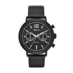 Relic Mens Black Strap Watch-Zr15933