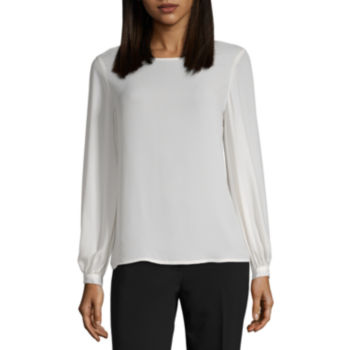 Blouses White Tops For Women Jcpenney