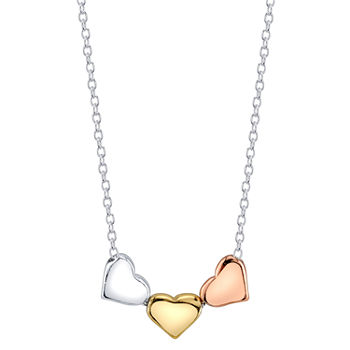 Footnotes Kind Heart Sterling Silver 24 Inch Cable Heart Pendant Necklace