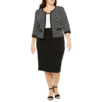Studio 1 3/4 Sleeve Jacket Dress - Plus