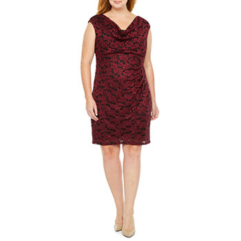 Scarlett Sleeveless Lace Sheath Dress - Plus