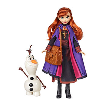Hasbro Frozen Anna Doll With Buildable Olaf Figure And Backpack Accessory, Inspired By Disney Frozen 2