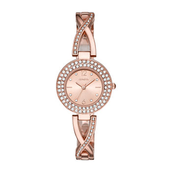Geneva Womens Crystal Accent Rose Goldtone Bracelet Watch - Fmdjm202