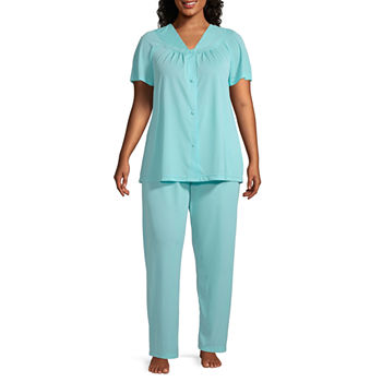 Lissome Womens-Plus Pant Pajama Set 2-pc. Short Sleeve