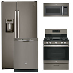 GE® 4-pc. Gas Kitchen Package- Slate