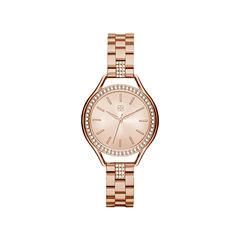 Daisy Fuentes Womens Rose Goldtone Bracelet Watch-Df114rg