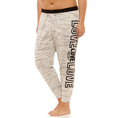 Flirtitude Fleece Jogger Pants-Juniors Plus