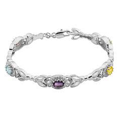 Sparkle Allure Multi Color Genuine Topaz Tennis Bracelet