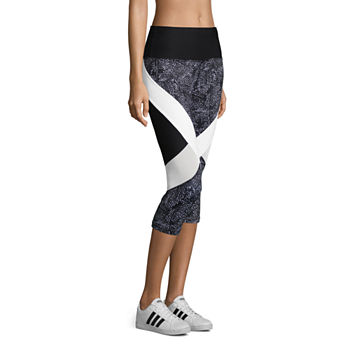 Xersion Modern Tapered Leg Performance Colorblock Capris