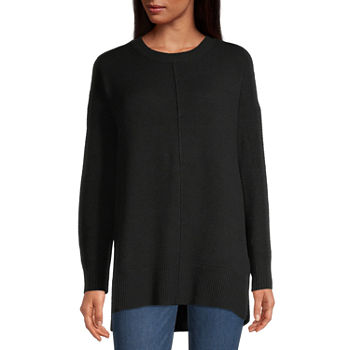 a.n.a-Talls Womens Crew Neck Long Sleeve Pullover Sweater