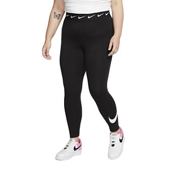 Nike Womens Plus High Rise Full Length Leggings