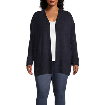 Liz Claiborne Sweater Long Cardigan - Plus